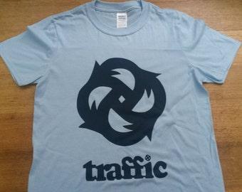 Traffic Band T-shirt Rare  Mod 60s Psychedelic Stevie Winwood Vintage Tour Style Album LP Vinyl