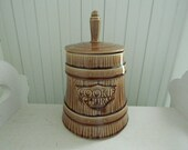 McCoy Cookie Churn Cookie Jar - Vintage Cookie Jar - Country Kitchen Cookie Canister - McCoy Butter Churn Cookie Jar - Ceramic Cookie Jar