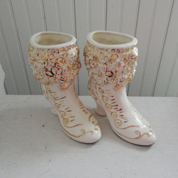 Pair of ceramic women\u2019s shoes