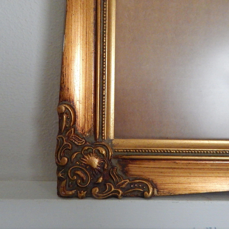 Relieve oro dorado, marco de madera de 11 x 14 - Vintage en relieve ...