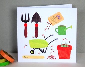 Gardening Greetings Card