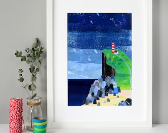 Song of the Sea Collage Print