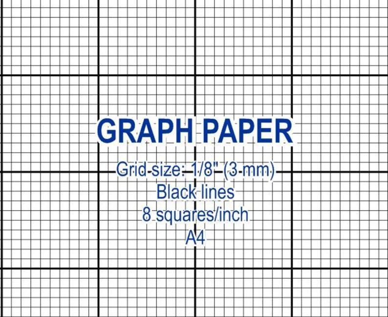 Graph Paper Printable 3 Mm Grid Cross Stitch Design 8 Etsy