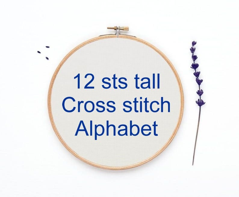 Cross Stitch Alphabet Pattern 12 Sts Tall Font Graph Hand Etsy