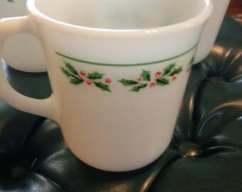 Corning Corelle Christmas Coffee Mugs Set of 6