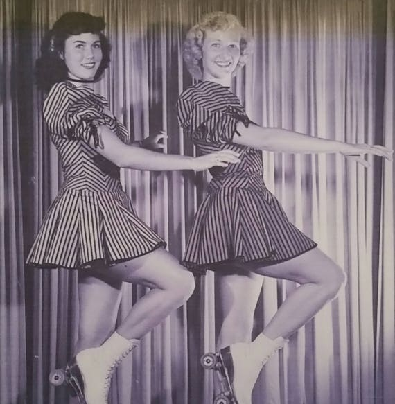 RARE late 40s-early 50s Roller Skater Dress / Pep… - image 9