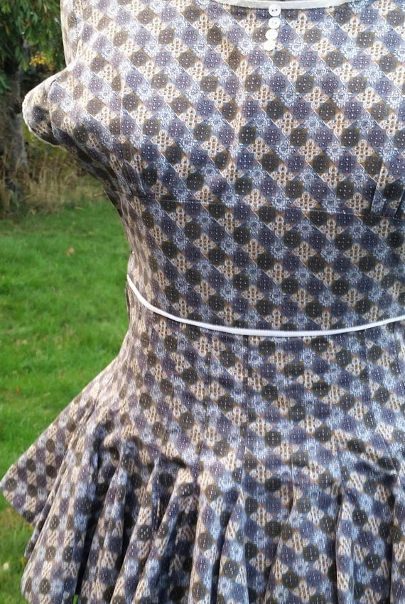 RARE late 40s-early 50s Roller Skater Dress / Pep… - image 7
