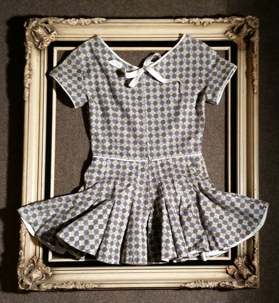 RARE late 40s-early 50s Roller Skater Dress / Pep… - image 2