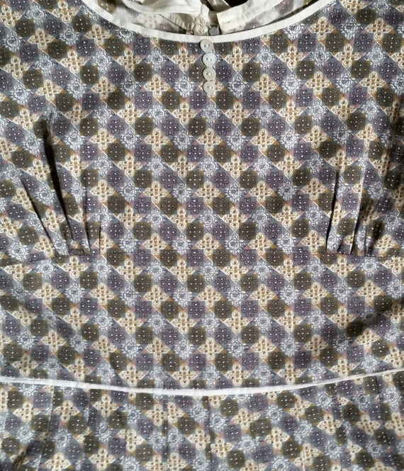 RARE late 40s-early 50s Roller Skater Dress / Pep… - image 5