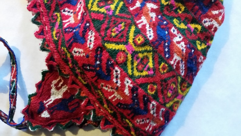 175bd2a1c Vintage Chinchero-Style CHULLO HAT - Traditional Peruvian Headwear -  Hand-Knit Andean Fiber Art - Cusco Earflap Tassel Tail Cap - OOAK!