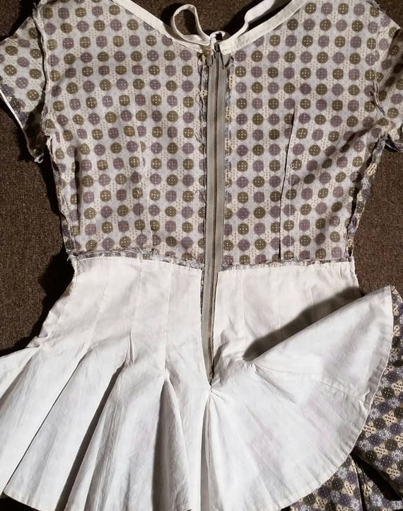 RARE late 40s-early 50s Roller Skater Dress / Pep… - image 4