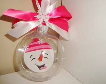 Floating Snowman Christmas ornament