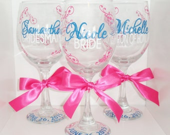 20 ounce wedding party wine glass - perfect for every member of the wedding party -