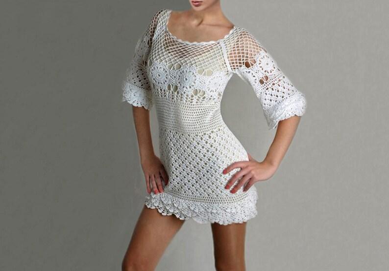 Crochet Wedding Dress Pattern.Crochet Dress Pattern Crochet Wedding Dress Crochet Party Dress Pattern Written Instructions In English Trendy Cocktail Dress Tutorial
