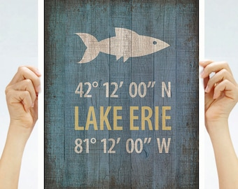"Lake Erie Walleye ""Capital/"" Fishing sticker decal guaranteed no fade 3 years"