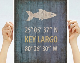 KEY LARGO Florida Keys Marilyn Monroe Poster New Retro Pin Up Art Print 263