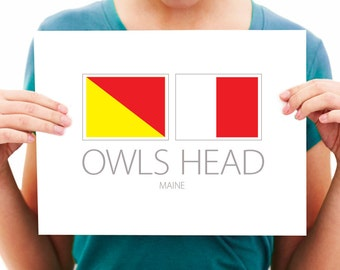 Owls Head - Maine - Nautical Flag Art Print