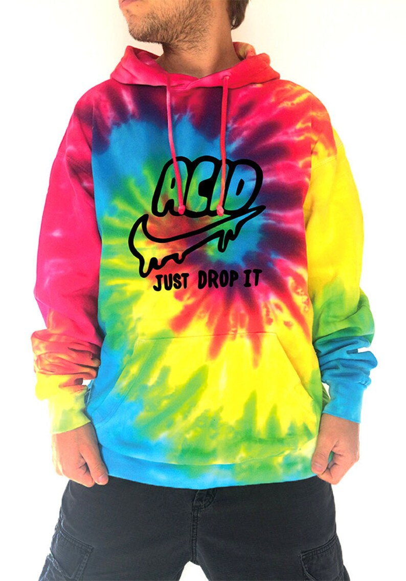 7c5fb97a6a4 Acid-just-drop-it-rainbow-batik-hoodie-psychedelic-drugs-lsd-t