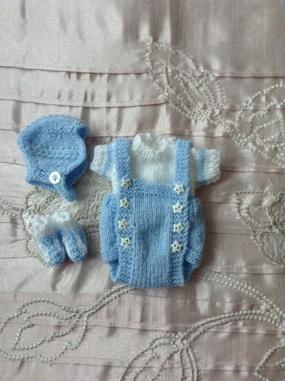 Hand Knitted Dolls Clothes To Fit 7 Boy Dollreborn