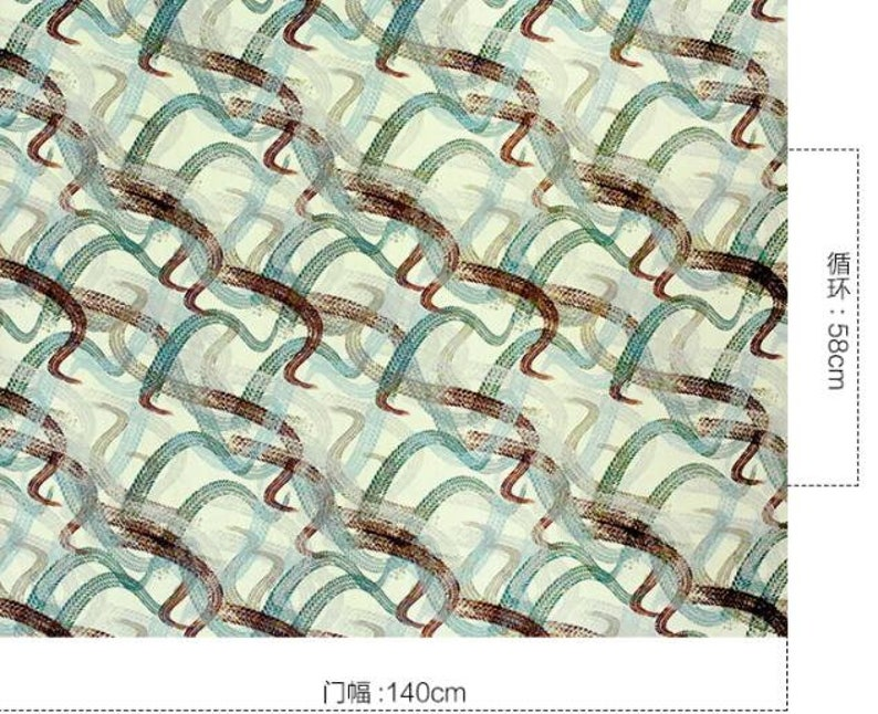 printed fabric 16mm-100/% Silk fabric with graffiti style by the yard-55 inches140cm wide fashion fabric