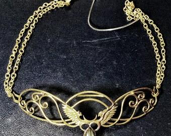 853cdd68078c3a Spiral Tiara - Brass - Labradorite ~ Unicorn Horn INCLUDED!!