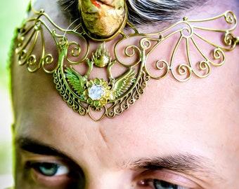795290d689de69 Shakti Bhakti Tiara - Brass ~ Unicorn Horn INCLUDED!!