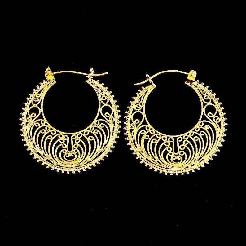 5524855089f912 Oshun Earrings 24K Gold Vermeil | Etsy