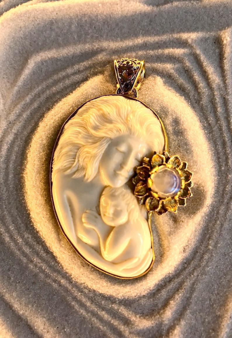 de31bdd7a70c1a Divine Mother Pendant Brass | Etsy