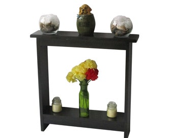 Exceptionnel Small Accent Table Skinny Table Side Table Narrow Entry Table Nightstand  Entryway Table Wood Table Wood Furniture Rustic Black Stain