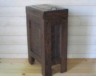 Exceptionnel Trash Can Cabinet   Etsy