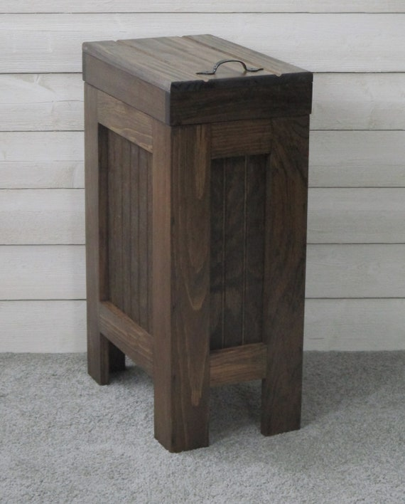 Kitchen Trash Can Wood Garbage Can Trash Can Cabinet Etsy
