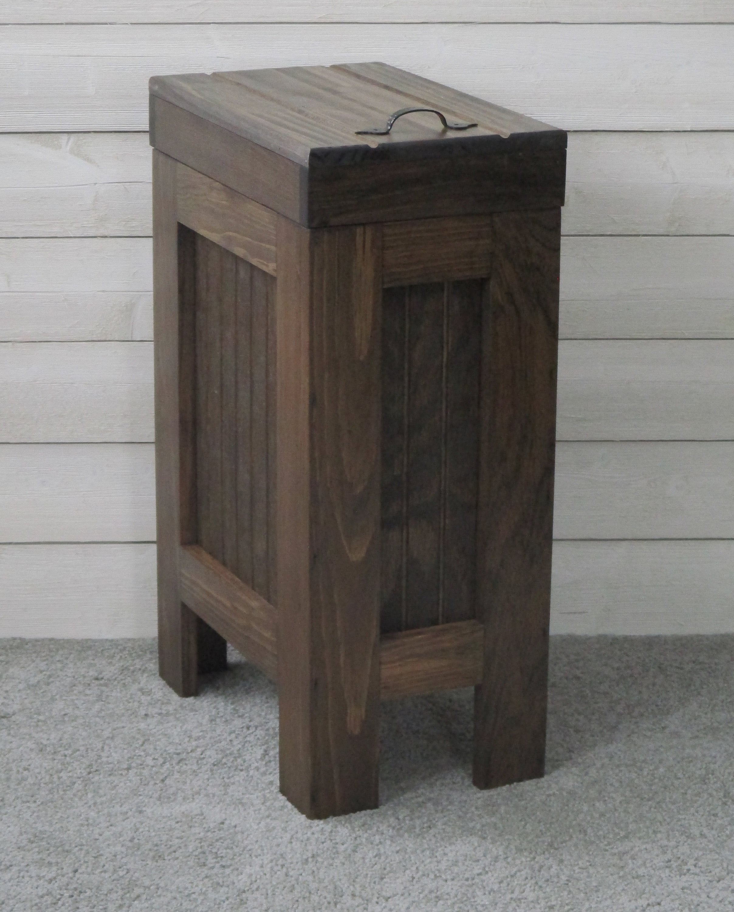 Kitchen Trash Can / Wood Garbage Can / Trash Can Cabinet ...