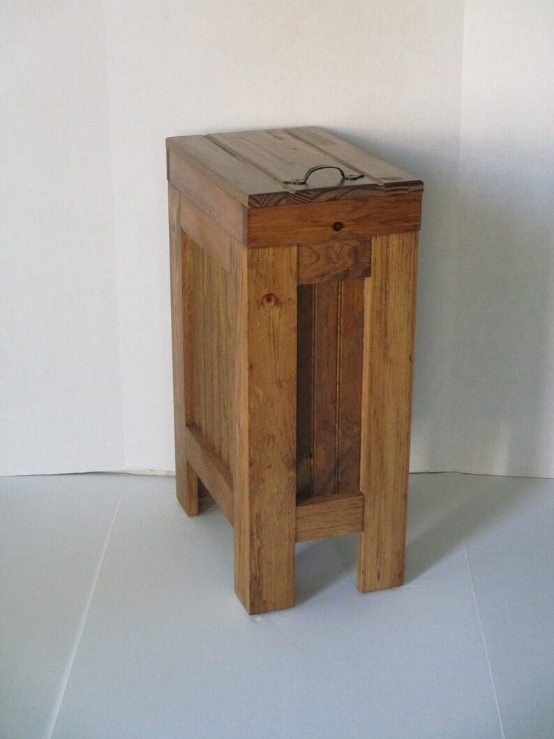 Superieur Wood Trash Bin, Kitchen Garbage Can, Wood Trash Can, Rustic Trash Bin,  Wooden Trash Bin, Wooden Trash Can, 13 Gallon, Early American Stain