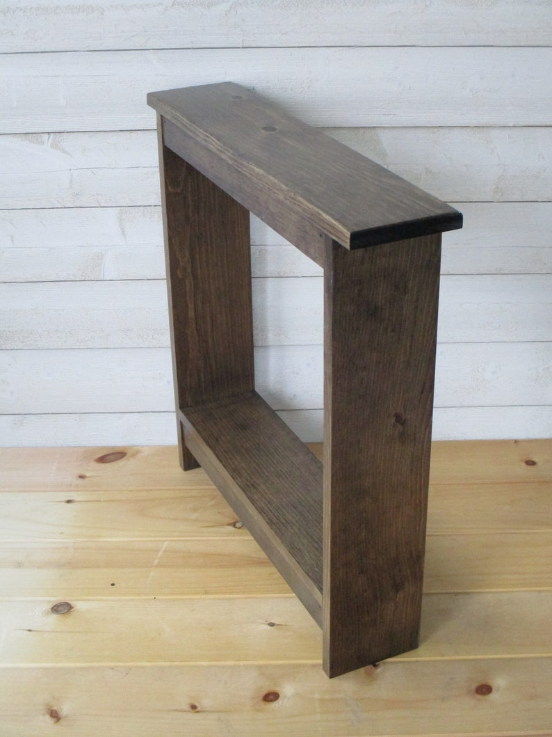 - Narrow Console Table / Small Side Table / Entry Table Wood / Etsy