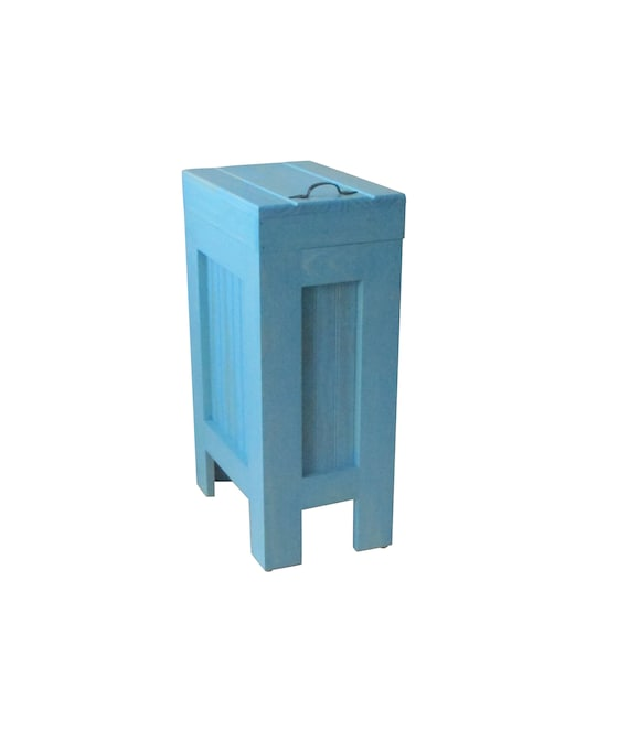 Trash Can Cabinet / Garbage Can / Kitchen Trash Can / Recycle Bin / 13  Gallon / Wood Garbage Can / Wooden Trash Can for Kitchen