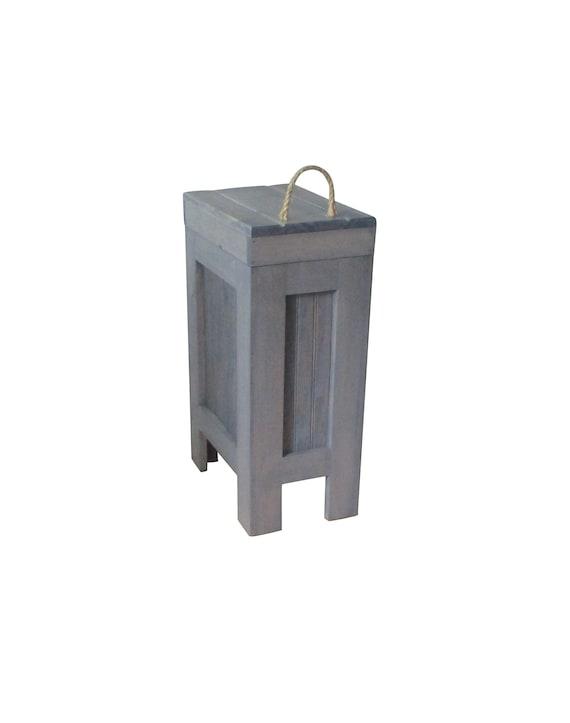 Wood Trash Can / Kitchen Garbage Can / Wood Trash Bin / Rustic Trash Bin /  Wooden Trash Bin / Wooden Trash Can/ Wood garbage can / Storage
