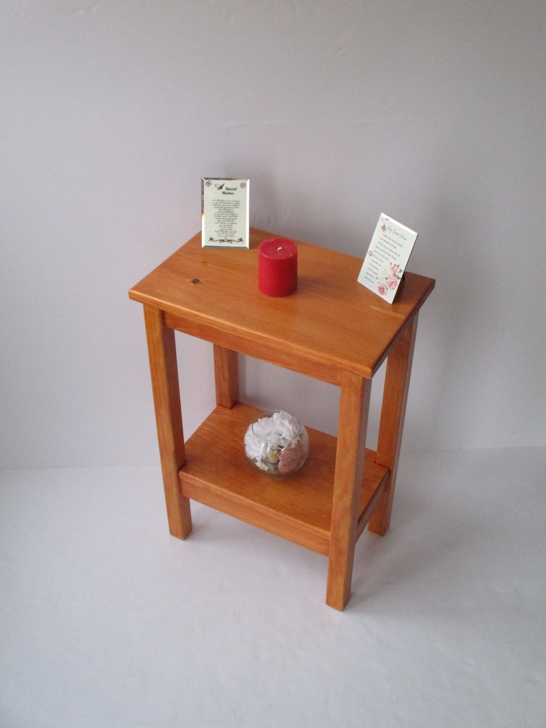 Nightstand Bedside Table Small Side Table Rustic End Table Small End Table Colonial Maple Stain