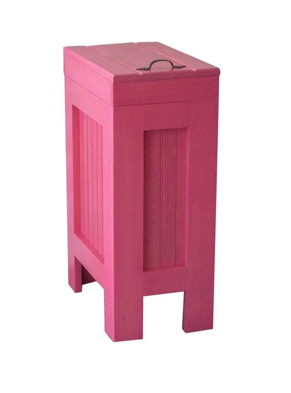 Bathroom Trash Can Bin Kitchen Garbage Can waste basket Pink Stain
