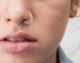 a84ed01496796 Moon nose ring | Etsy