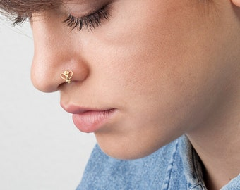 Butterfly Nose Ring Etsy