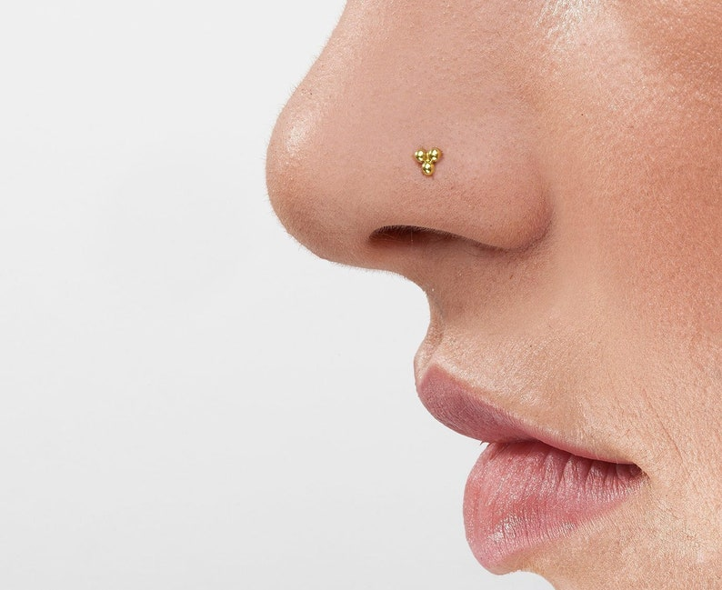 Mother/'s day gift Silver Nose Stud Nose Jewelry Back Screw Nose Stud Nose Ring