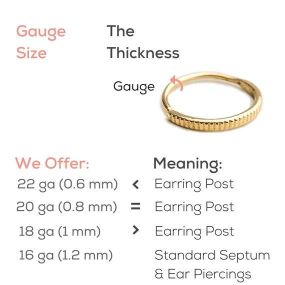 Nose Ring Gauge Chart Yubad
