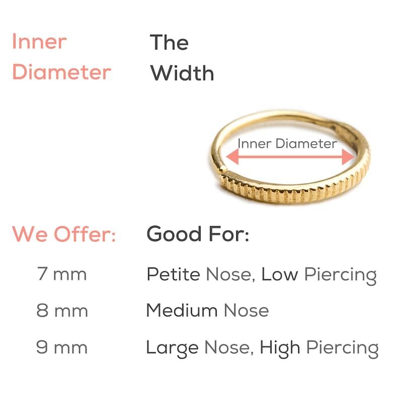 D\u00e9grad\u00e9 Nose Ring Helix Earring Gold Nose Hoop 14k Septum Rose Gold Nose Ring Nose Piercing Beaded Nosering Indian Nostril Jewellery