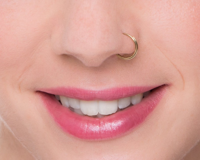 Dainty Nose Ring Nose Hoop Nose Jewellry Septum Ring Etsy