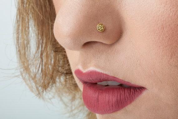 Set of 5 Nose Stud Crock Screw Nose Stud Indian Nose Stud Gold Nose Piercing Gold Nose Stud Tinny Nose Stud Nose Piercing Nose Jewelry 22g