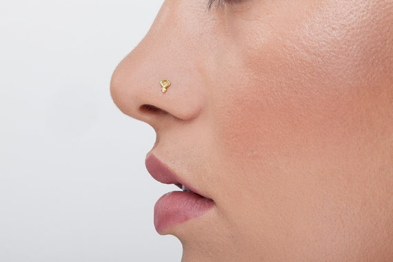 Indian Nose Stud Nez Piercing arrière Vis Nez Pin Nez Bijoux Mères Jour Cadeau