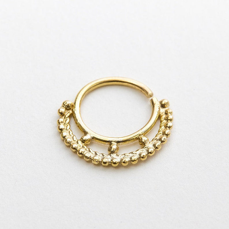 Septum Ring 16g Rook Septum Jewelry 18g Nose RIng Earring Nose Ring Gold Septum Ring Cartilage Gold Body Piercing Tragus