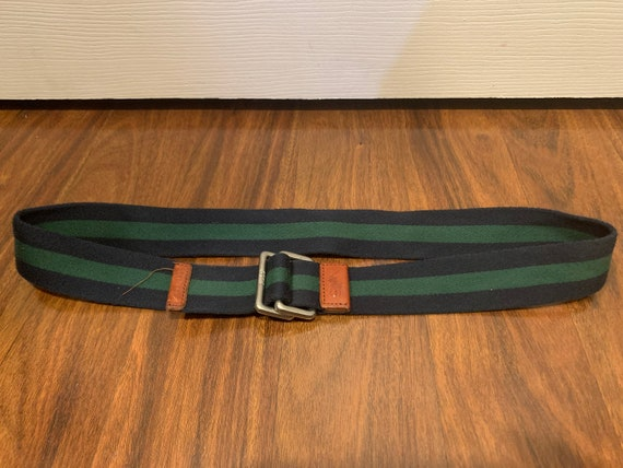 Vintage Polo by Ralph Lauren belt D ring striped … - image 7