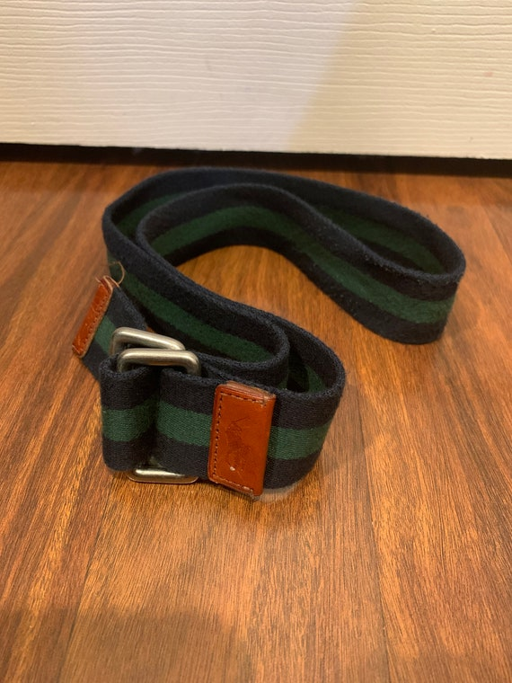 Vintage Polo by Ralph Lauren belt D ring striped … - image 6