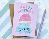 Happy Birthday Cupcake - ...